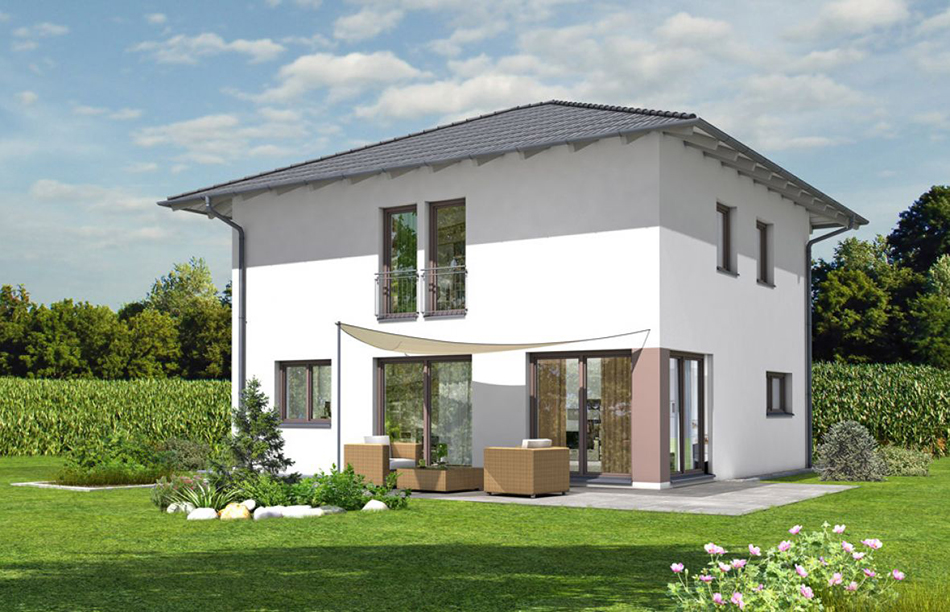 Rötzer Ziegelelement Haus_Einfamilienhaus mit der Dachform Walmdach