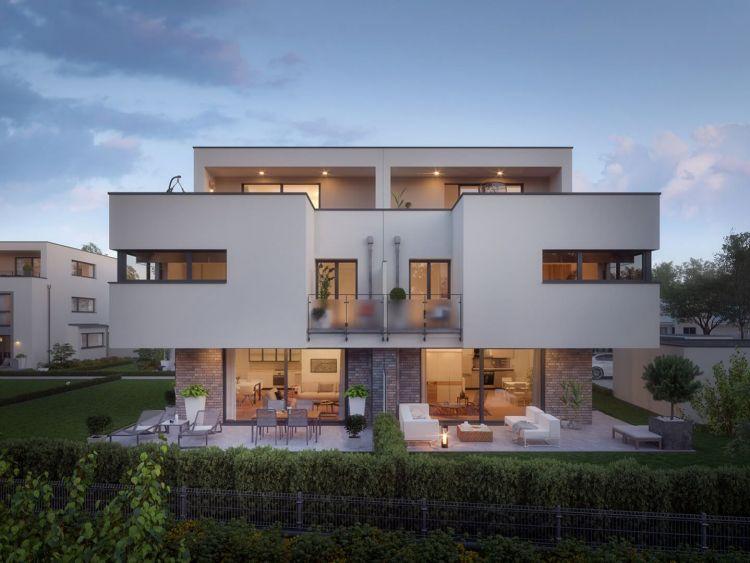 Exklusive Immobilie in Herrsching am Ammersee bei Dämmerung