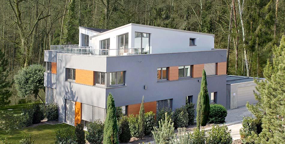 Rötzer Ziegel Element Haus mit Pultdach