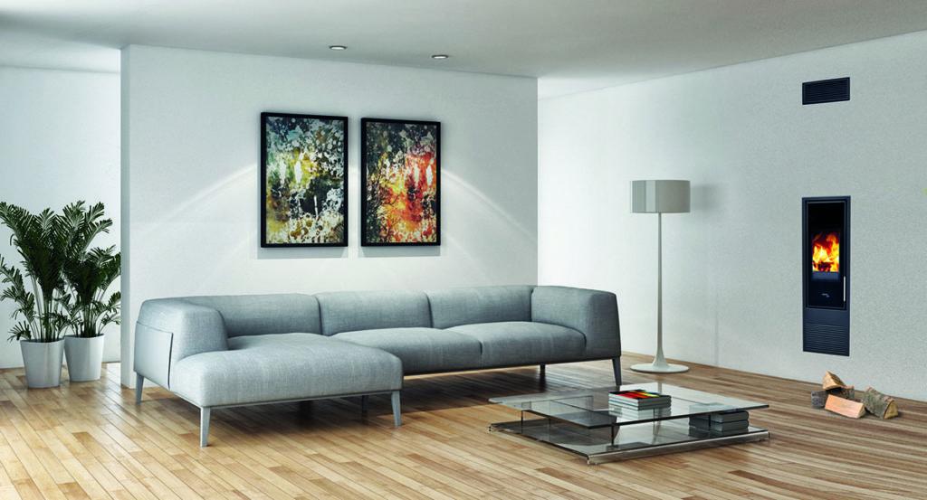 Wohnzimmer mit PLEWA Schwedenofen