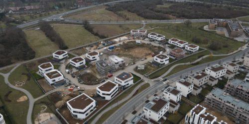 Neubaugebiet mit noch zu erschließenden Grundstücken