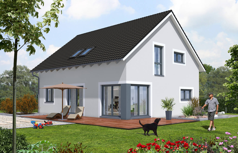 basishaus 152 r tzer ziegel element haus. Black Bedroom Furniture Sets. Home Design Ideas